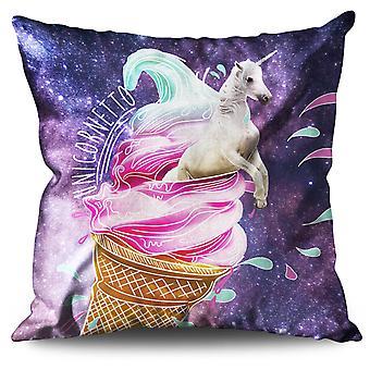 Unicorn Ice-Cream Linen Cushion Unicorn Ice-Cream | Wellcoda