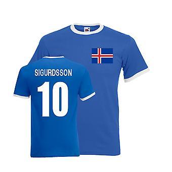 Kolbeinn Sigborsson Islande Tee Ringer (bleu)