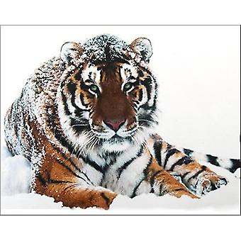 Collection D'art Diamond Embroidery/Printed/Gem Kit 48x38cm-Tiger On The Snow DE451