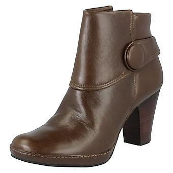 Ladies Clarks Ankle Boots - Libary Fine - Storm Leather - UK Size 5.5D - EU Size 39 - US Size 8M