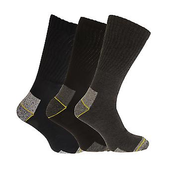 Mens Big Foot Reinforced Work Socks (3 Pairs)