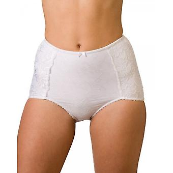 Camille Serenity Jacquard Light Control Support Brief White