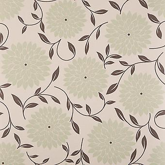 Graham & marrom Olive Wallpaper do rolo - Design de Flora Floral liso - cor: 58205