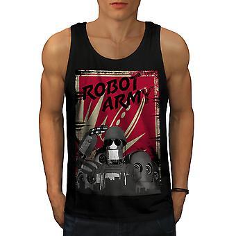 Hær sjove Robot nørd mænd BlackTank Top | Wellcoda