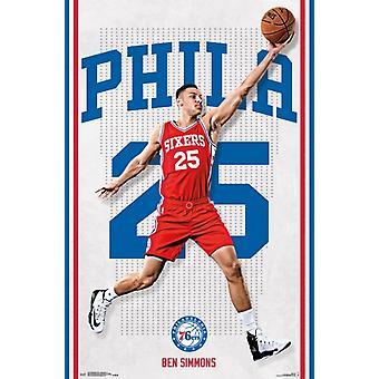Philadelphia 76ers - Ben Simmons 16 Poster Print