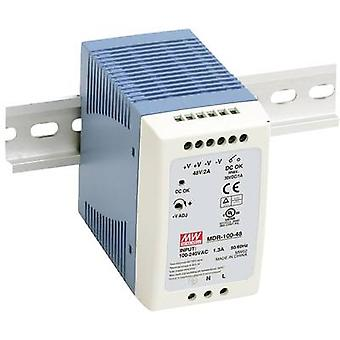 Rail mounted PSU (DIN) Mean Well MDR-100-24 24 Vdc 4 A 96 W 1 x