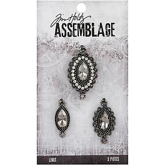 Tim Holtz Assemblage Charms 3/Pkg-Fanciful Trio THA20132