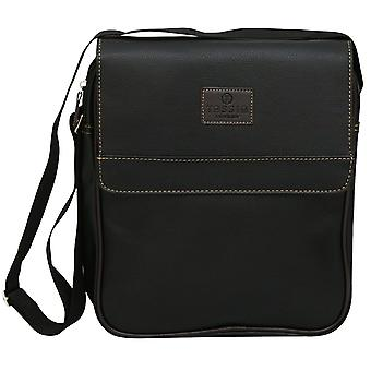 Pu Leather Look Unisex Mini Messenger Flight Bag Shoulder Side Business Case