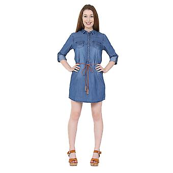 Denim Shirt Dress Jean Dress with belt