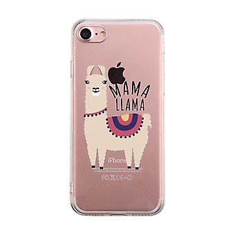 Mama Llama Clear Case Funny Mothers Day Gift For Moms Ultra Slim