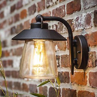 Linterna de pared Exterior Lutec Cate en marrón/negro