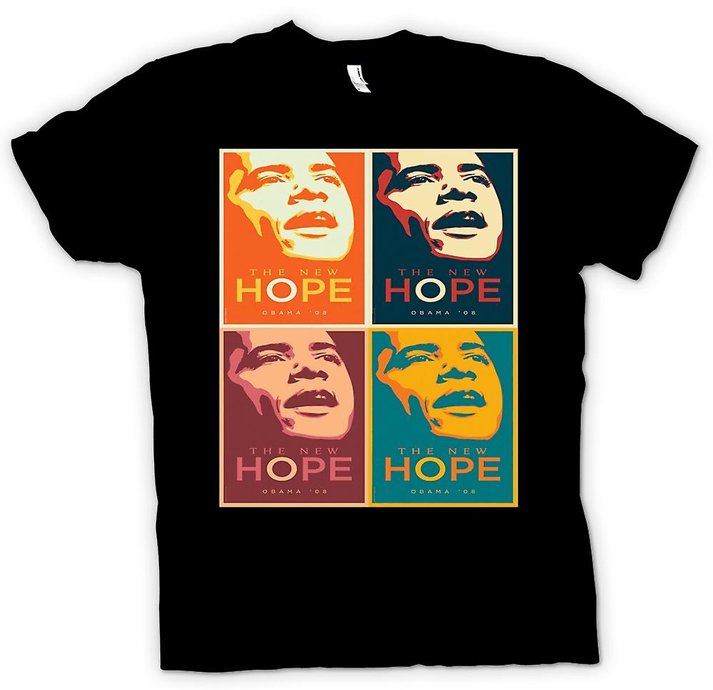 Mens t-skjorte-Obama 08 New Hope - Warhol