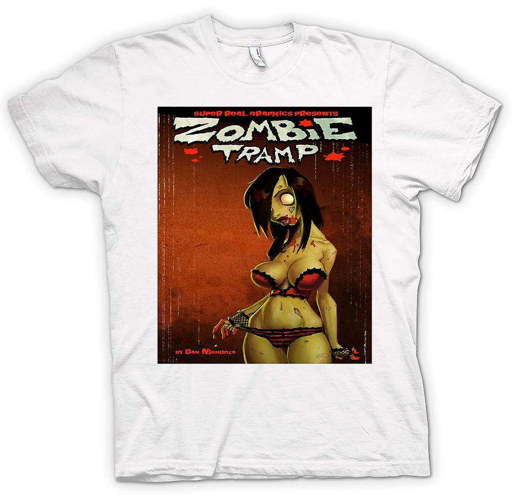 Mens T-shirt - Zombie-Tramp - Untoten - Pin-Up
