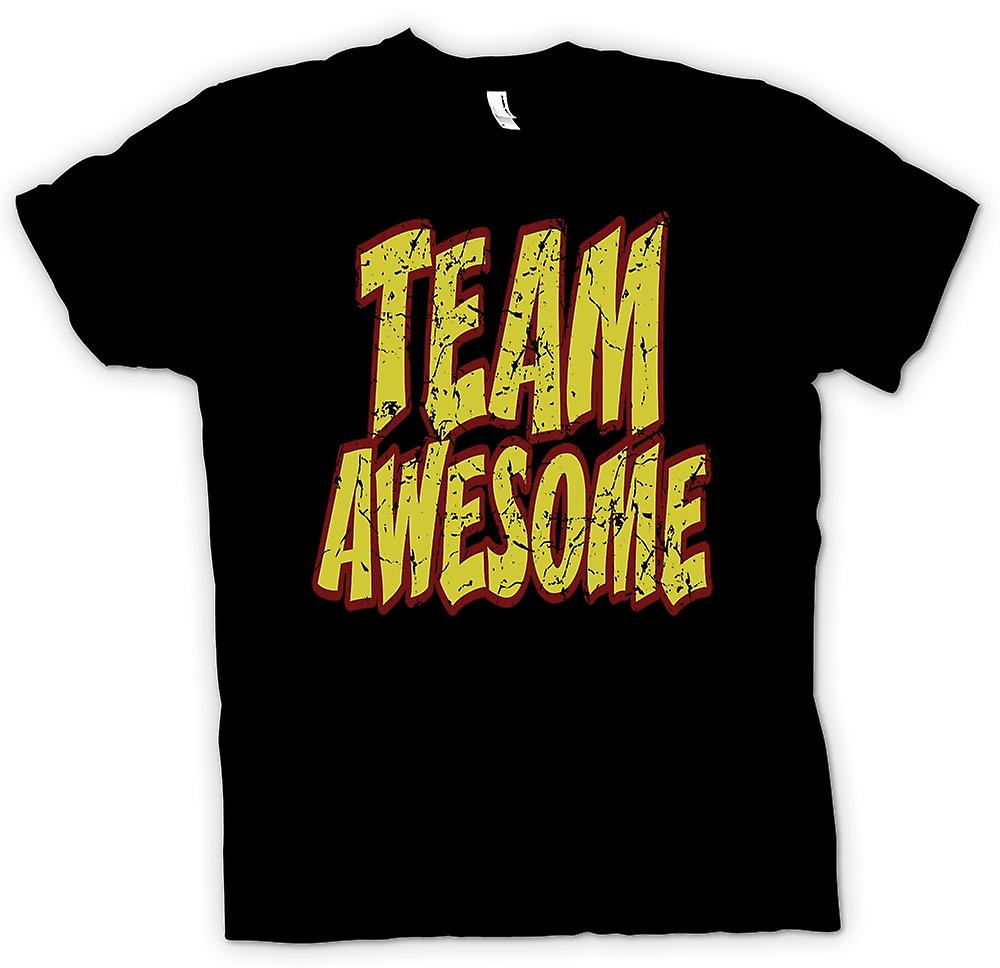 Barn T-shirt - Team Awesome - rolig