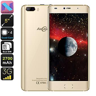 Allcall Rio Android Phone - Android 7.0, Dual IMEI, 3G, OTG, Quad-Core-CPU, 5-Zoll-HD-Display, 8 Megapixel Dual-Kamera, 2700mAh (Gold)