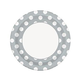 Sølv Dot plater 9â€