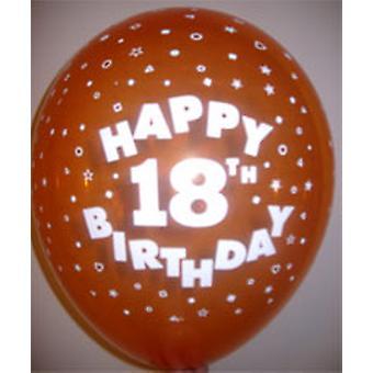 Balloner glad 18 fødselsdag Ass farver 12