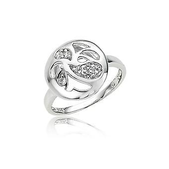 Orphelia argento 925 anello floreale zirconio ZR-3686