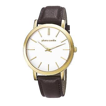 Pierre Cardin mens watch wristwatch BONNE NOUVELLE leather PC106511F24