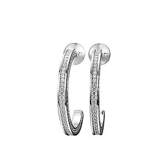 Joop women's hoop earrings silver cubic zirconia Kim JPER90271A000