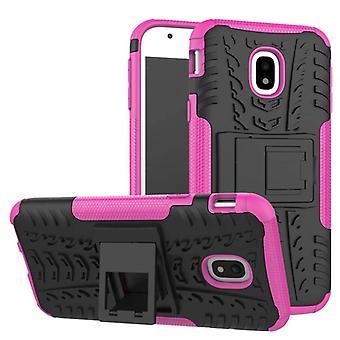 Hybrid case 2 stuk SWL buiten roze voor Samsung Galaxy J3 J330F 2017