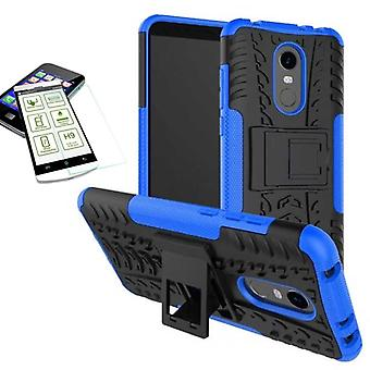 Hybrid case 2 piece blue for Xiaomi Redmi 5 + bulletproof bag case cover