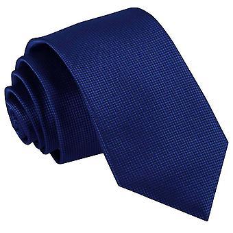 Royal Blue effen Check slanke Tie
