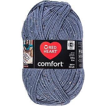 Red Heart Comfort Yarn-Denim Fleck