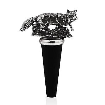 Fox Pewter Bottle Stopper