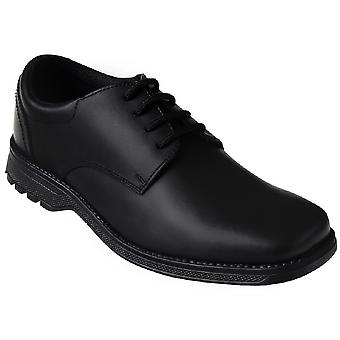 Term Boys Tyson Clerk School Shoes Black Leather
