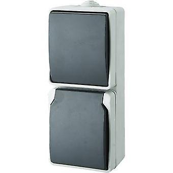 GAO Switch/socket combo Standard Grey 9878