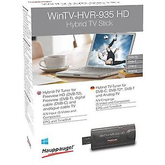 TV stick Hauppauge WinTV-HVR-935HD Recording function, incl. DVB-T aerial, incl. remote control No. of tuners: 1