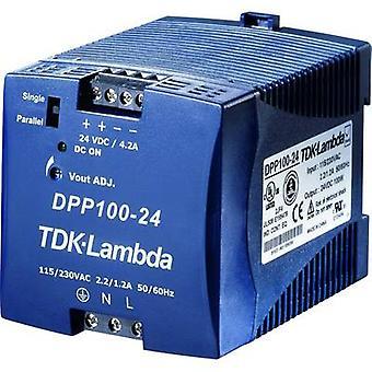 Rail mounted PSU (DIN) TDK-Lambda DPP-100-24 24 Vdc 4.2 A 100 W 1 x