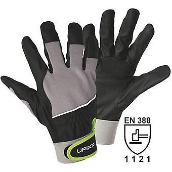 L + D Upixx 1190 zwart, grijze PU-materiaal, Micro-vezels en Spandex. Touch Grip 8 nl 388