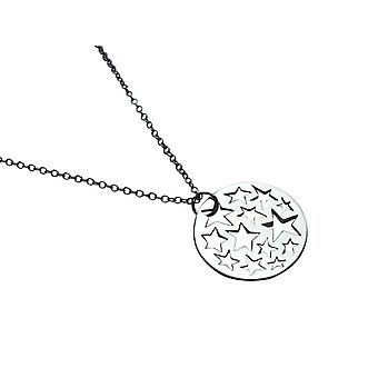 Gemshine - ladies - pendant - necklace - 925 Silver - Stars Constellation - 2.5 cm