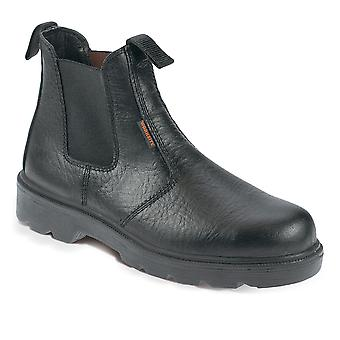 Worksite Black Safety Dealer Boots. Steel Toe & Midsole. Sizes: 5-13  – SS600SM