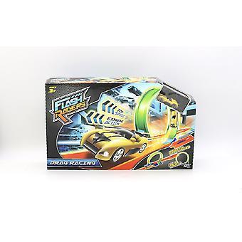 Flash-Racers dragracing spår Playset med leksak fordon
