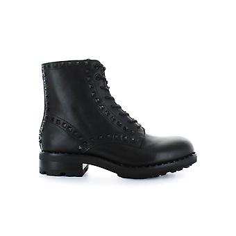 ASH BLACK LEATHER STUDS WOLF BOOTS