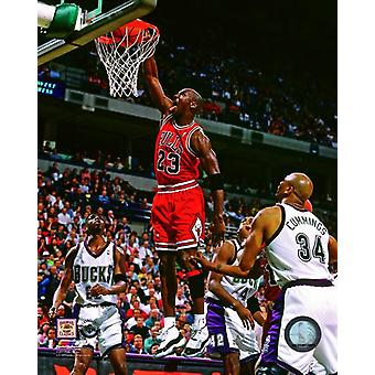 Michael Jordan 1995-96 akcji Photo Print