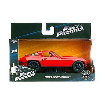 Jada 1:32 8 szybkie idealna wściekły - Letty's Chevy Corvette - JA98306