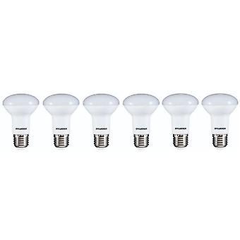 6 x Sylvania RefLED R63 V2 E27 7W varm hvit LED 630lm [energi klasse A +]