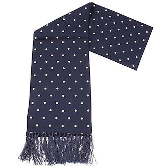 Knightsbridge corbatas lunares vestido bufanda - azul marino/blanco