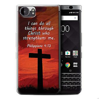 STUFF4 Gel TPU Phone Case / Cover für Blackberry KeyOne/BBB100 / Christus stärkt/Philipper Design / Christian Bibel Vers Sammlung