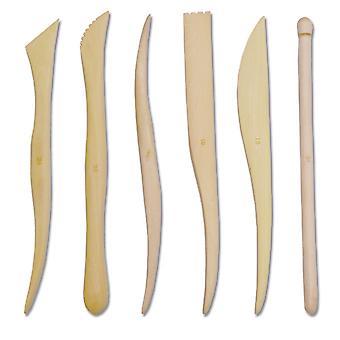 TRIXES lot de 6 argile en bois, façonner des outils de sculpture
