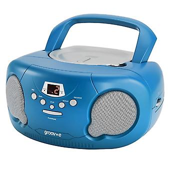 GVPS733BE Original Aux-In Boombox Portable CD Player with Radio - Blue