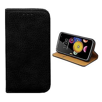 Bolsa de la carpeta de Colorfone LG K10 (negro)