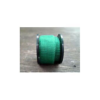 1 x Ciemny zielony posrebrzane miedziane 15 mm x 1 m Dziane siatki Craft drut płaski Tube W7004