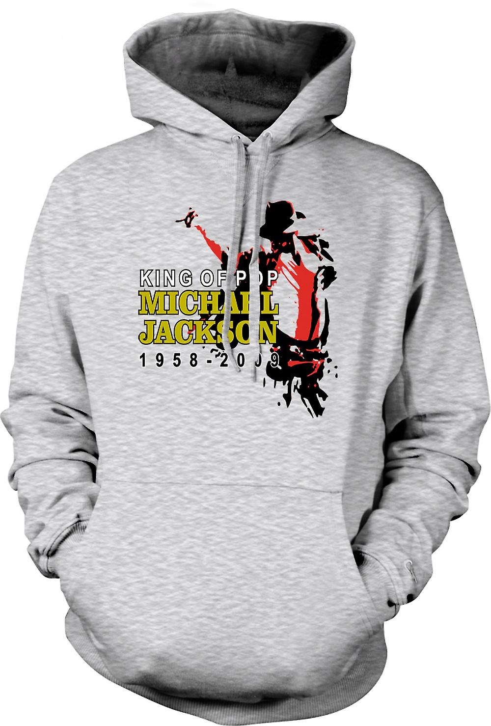 Heren Hoodie - Michael Jackson King Of Pop - New