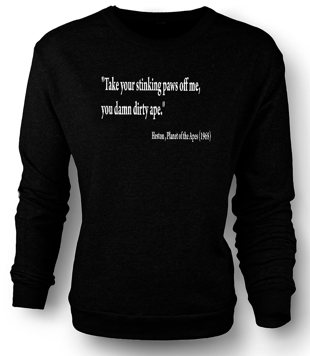 Mens Sweatshirt Planet of the Apes - Quote Heston