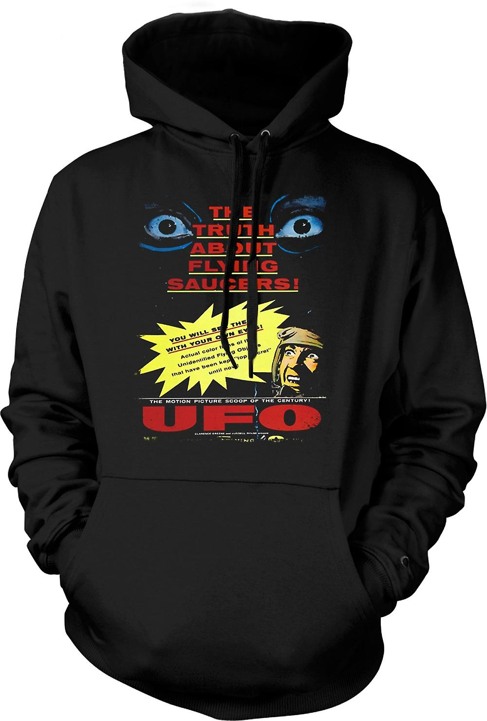 Mens Hoodie - waarheid over Flying Saucers Kids